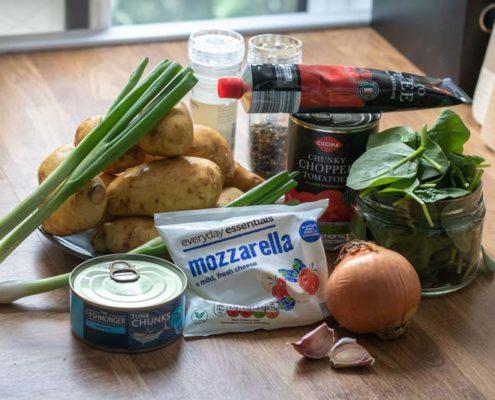 Tuna bake ingredients