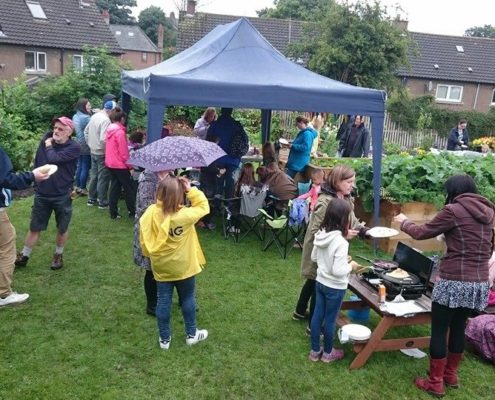 Barbeque at the Community Garden