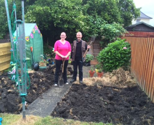 Yvonne Eley, a local resident now growing her own food at home