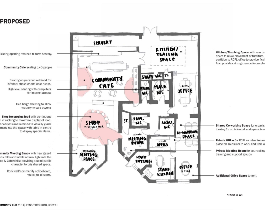 Planned layout of the new Community Hub