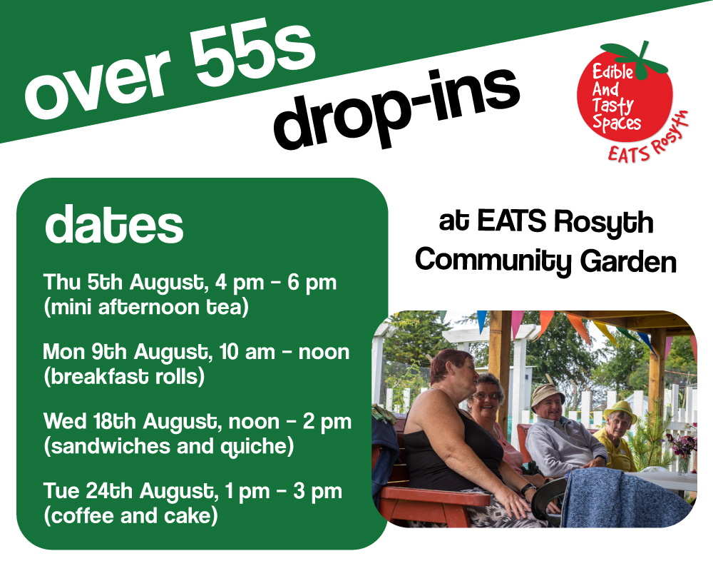 Image showing dates of drop in sessions for over 55s